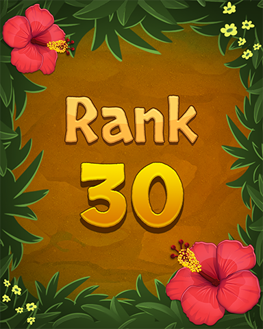 Rank 30 Badge - Mahjong Sanctuary
