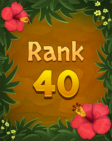 Rank 40 Badge - Mahjong Sanctuary