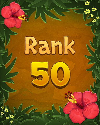 Rank 50 Badge - Mahjong Sanctuary