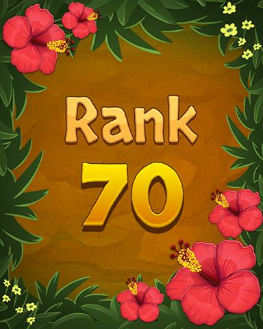 Rank 70 Badge - Mahjong Sanctuary