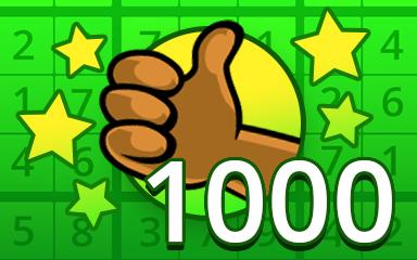 No Mistake 1000 Badge - Pogo Daily Sudoku