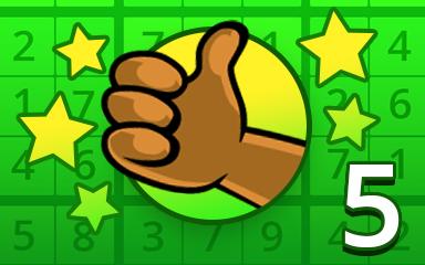 No Mistake 5 Badge - Pogo Daily Sudoku