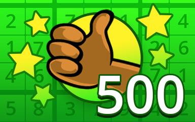 No Mistake 500 Badge - Pogo Daily Sudoku
