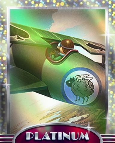Black Sheep Squadron Platinum Badge - Aces Up! HD