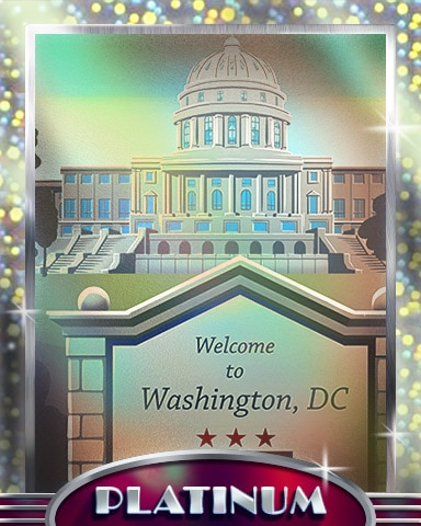 Welcome To Washington D.C. Platinum Badge - Cross Country Adventure