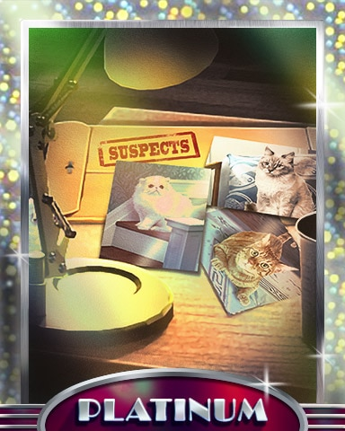 Curious Cats Platinum Badge - Claire Hart Classic