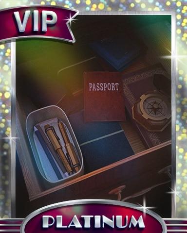Passport Clue Platinum Badge - Claire Hart Classic