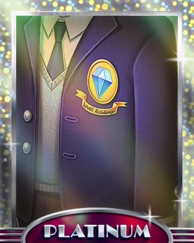 Upper Classman Platinum Badge - Jewel Academy