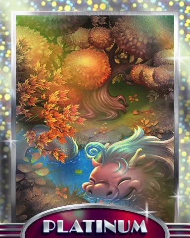 Bathing Dragon Platinum Badge - Mahjong Garden HD