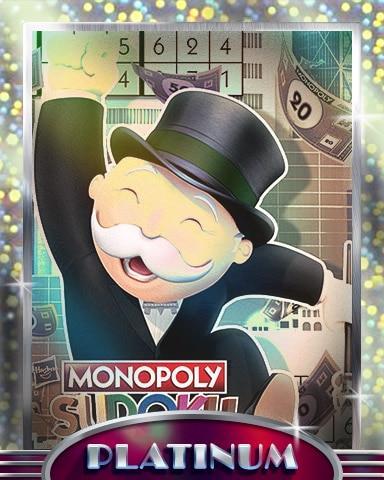 Making Big Money Platinum Badge - MONOPOLY Sudoku