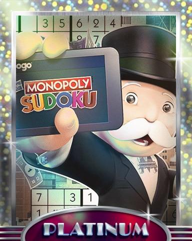 MONOPOLY Sudoku Anywhere Platinum Badge - MONOPOLY Sudoku