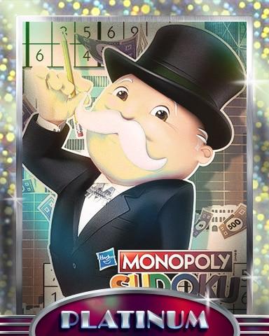Penciling It In Platinum Badge - MONOPOLY Sudoku