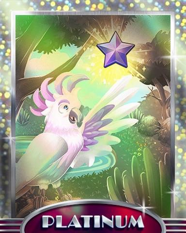 Star Appearance Platinum Badge - Mahjong Sanctuary