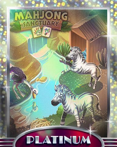 Zebras & Ostriches Platinum Badge - Mahjong Sanctuary