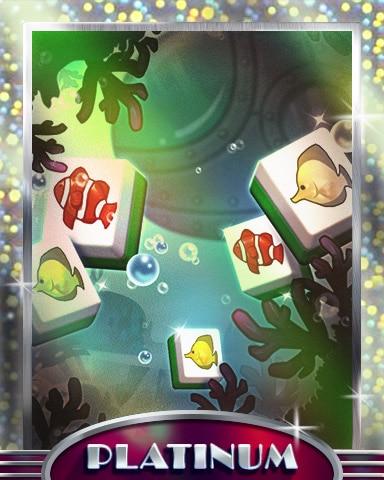 School Of Tiles Platinum Badge - Mahjong Safari HD