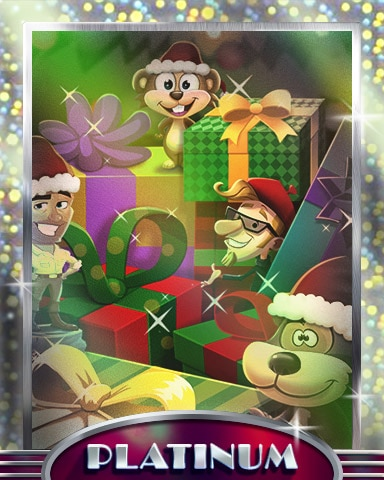 Holiday Buddies Platinum Badge - Pogo Addiction Solitaire HD