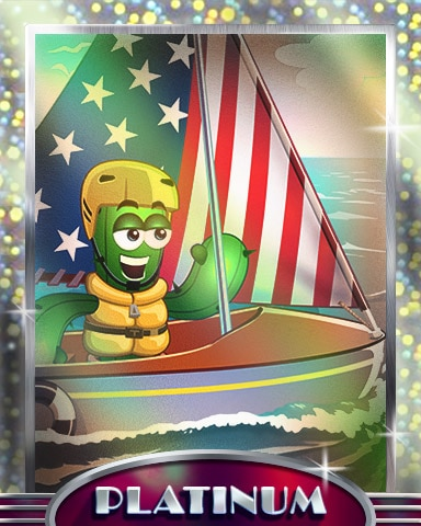 Stars, Stripes And Sails Platinum Badge - Poppit! Bingo