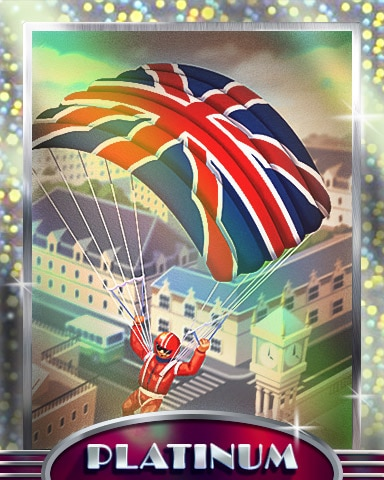 Just Dropping In Platinum Badge - Postcards From Britain