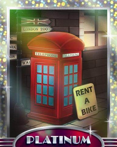 Red Telephone Box Platinum Badge - Postcards From Britain
