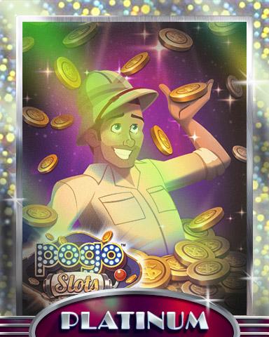 Tex's Jackpot Platinum Badge - Pogo™ Slots