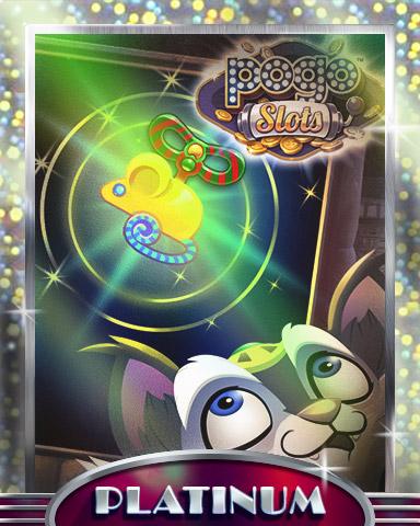 Reeling Mouse Platinum Badge - Pogo™ Slots