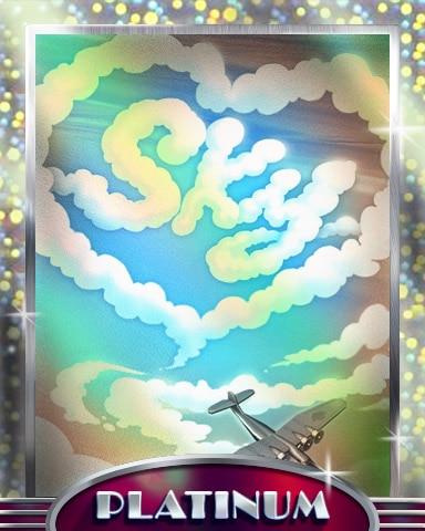 Sky Love Platinum Badge - SCRABBLE