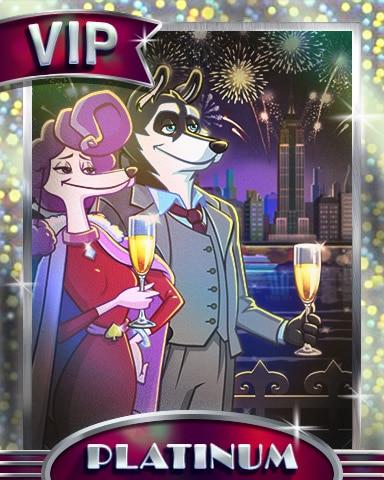 Sophisticated Celebration Platinum Badge - Spades HD