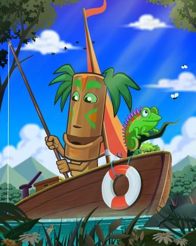 Chameleon Catcher Badge - Jungle Gin HD