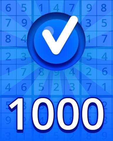 Beginner 1000 Badge - Pogo Daily Sudoku