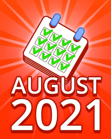 All Puzzles August 2021 Badge - Pogo Daily Sudoku