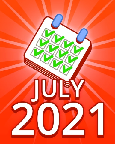 All Puzzles July 2021 Badge - Pogo Daily Sudoku