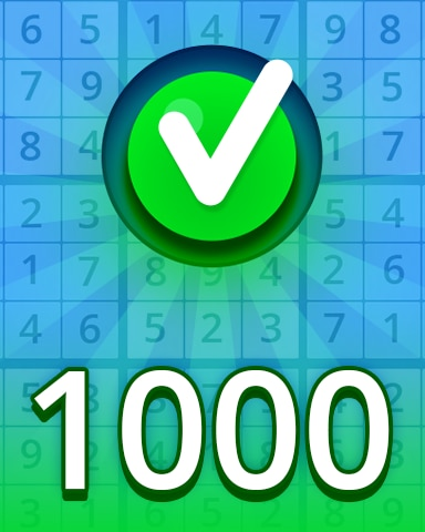 Easy 1000 Badge - Pogo Daily Sudoku