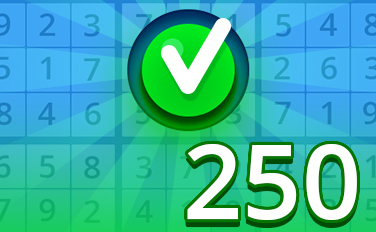 Easy V Badge - Pogo Daily Sudoku