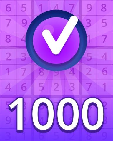 Expert 1000 Badge - Pogo Daily Sudoku