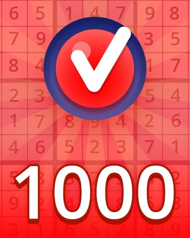 Hard 1000 Badge - Pogo Daily Sudoku