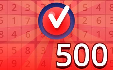 Hard VI Badge - Pogo Daily Sudoku