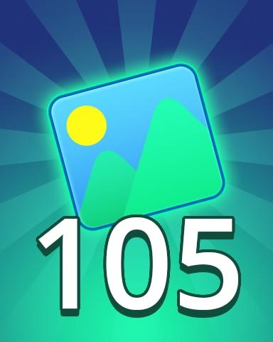 Theme 105 Badge - Pogo Daily Sudoku