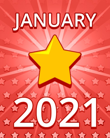 All Stars January 2021 Badge - Pogo Daily Sudoku