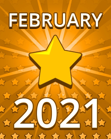All Stars February 2021 Badge - Pogo Daily Sudoku