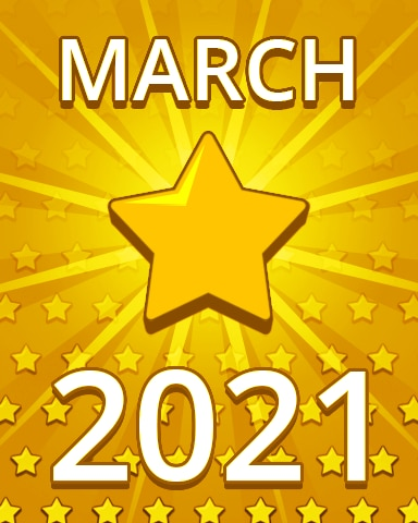 All Stars March 2021 Badge - Pogo Daily Sudoku