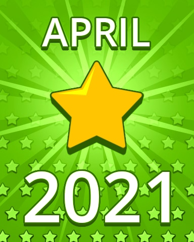 All Stars April 2021 Badge - Pogo Daily Sudoku