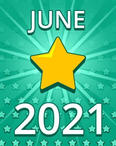 All Stars June 2021 Badge - Pogo Daily Sudoku
