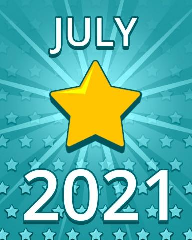 All Stars July 2021 Badge - Pogo Daily Sudoku
