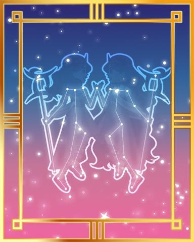 Pogo Gemini Twins Gold 1 Badge
