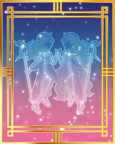 Pogo Gemini Twins Gold 2 Badge