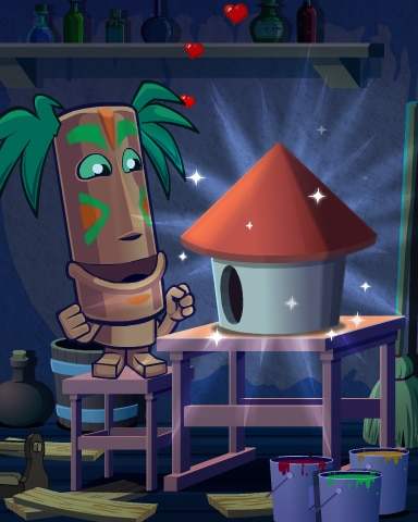 Tiki The Builder Badge - Jungle Gin HD