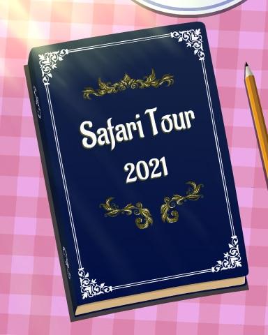 Safari Scrapbook Badge - Mahjong Safari HD