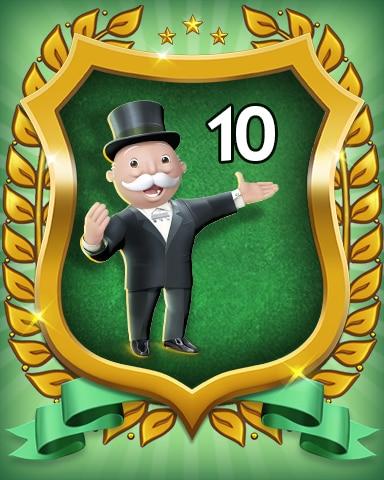Rank 10 Badge - MONOPOLY Sudoku