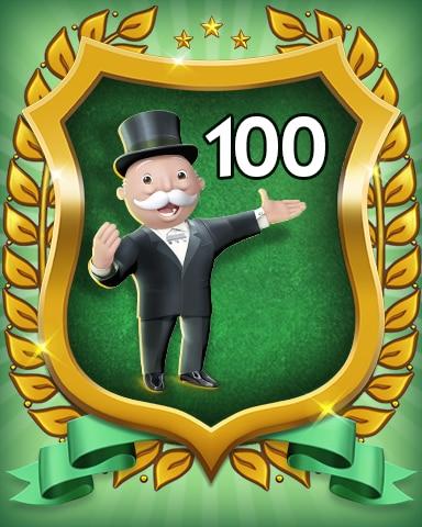 Rank 100 Badge - MONOPOLY Sudoku