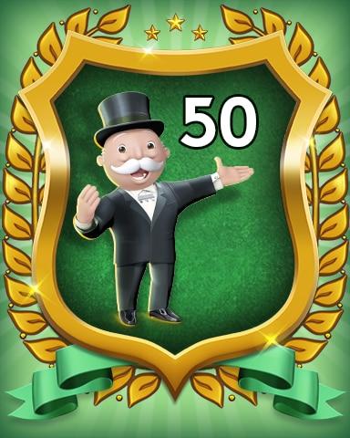 Rank 50 Badge - MONOPOLY Sudoku